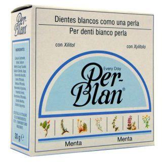 Dentífrico Blanqueante en Polvo Per-Blan Menta - 30 gramos