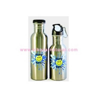 Botella Happy Water Plateada - 500 ml.
