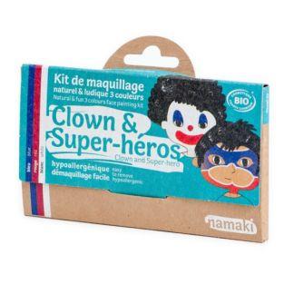 Kit de Maquillaje Infantil Bio Payaso & Superhéroe Namaki