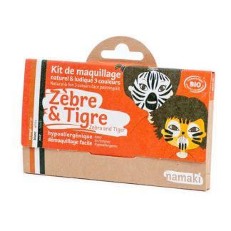 Kit de Maquillaje Infantil Bio Cebra & Tigre Namaki