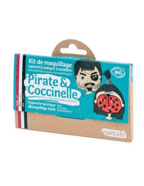 Kit de Maquillaje Infantil Bio Pirata & Mariquita Namaki