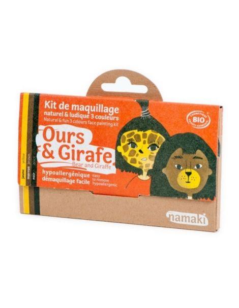 Kit de Maquillaje Infantil Bio Oso & Jirafa Namaki