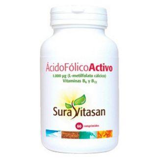 Ácido Fólico Activo 1000 mcg. Sura Vitasan - 60 comprimidos