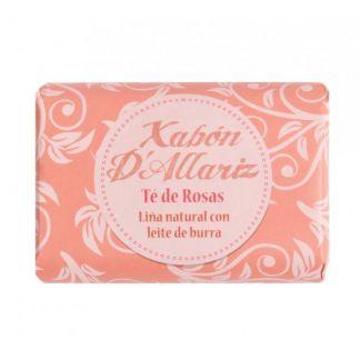 Jabón de Leche de Burra y Karité Té de Rosas Xabón D´Allariz - 100 gramos