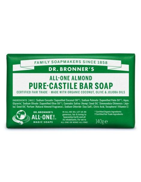 Jabón de Castilla de Almendras Dr. Bronner´s - 140 gramos