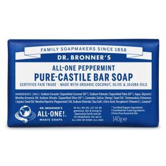 Jabón de Castilla de Menta Dr. Bronner´s - 140 gramos