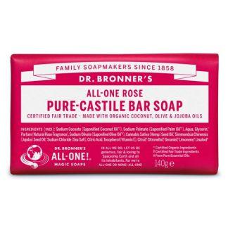 Jabón de Castilla de Rosas Dr. Bronner´s - 140 gramos
