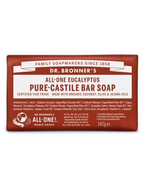 Jabón de Castilla de Eucalipto Dr. Bronner´s - 140 gramos