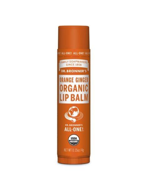 Bálsamo Labial Naranja y Jengibre Dr. Bronner´s 4 gramos