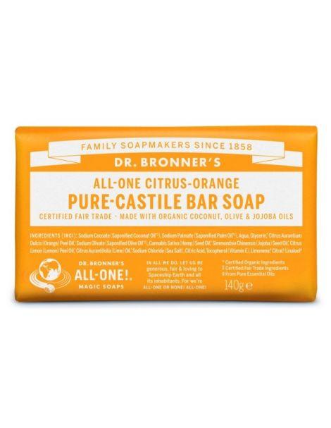 Jabón de Castilla Cítrico-Naranja Dr. Bronner´s - 140 gramos