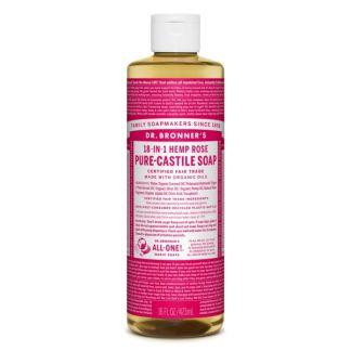 Jabón de Castilla Líquido de Rosas Dr. Bronner´s - 473 ml.