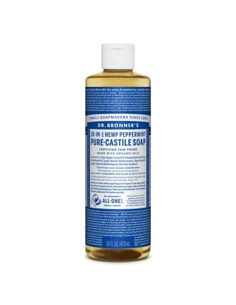 Jabón de Castilla Líquido de Menta Dr. Bronner´s - 473 ml.