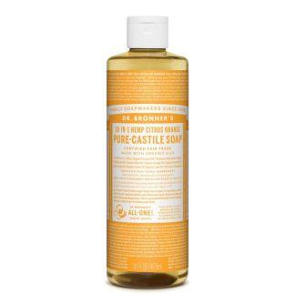 Jabón de Castilla Líquido Cítrico-Naranja Dr. Bronner´s - 473 ml.