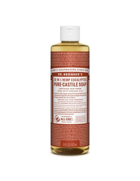 Jabón de Castilla Líquido de Eucalipto Dr. Bronner´s - 473 ml.