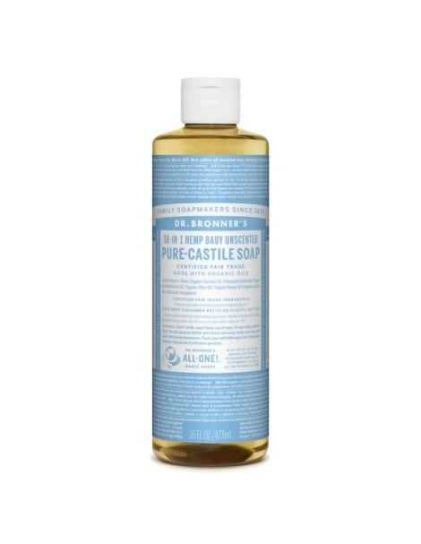 Jabón de Castilla Líquido Bebés-Neutro Dr. Bronner´s - 473 ml.