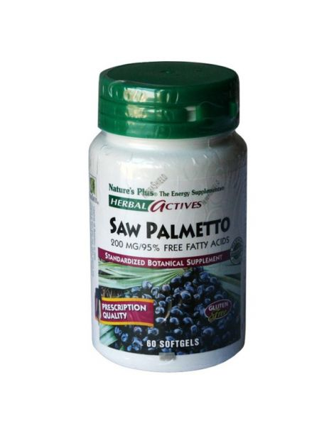 Palmito Salvaje (Saw Palmetto) Nature's Plus - 60 perlas