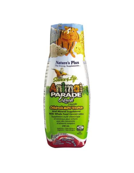 Liquilicious Animal Parade Líquido Multivitamínico Nature's Plus - 240 ml.