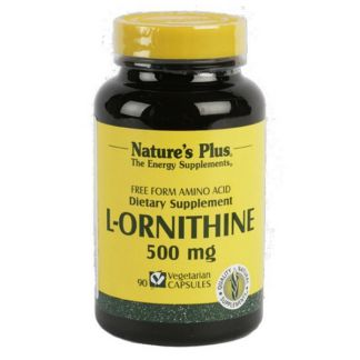 L-Ornitina 500 mg. Nature's Plus - 90 cápsulas