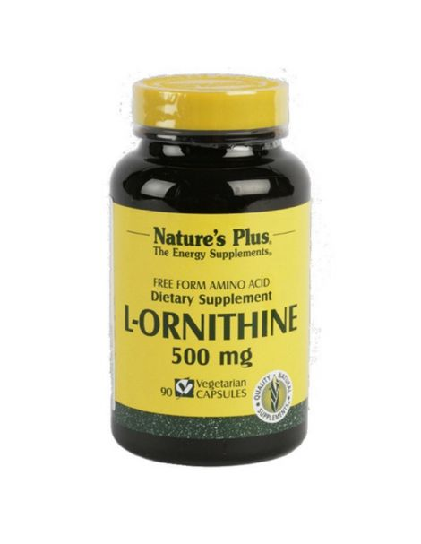 L-Ornitina 500 mg. Nature's Plus - 90 cápsulas