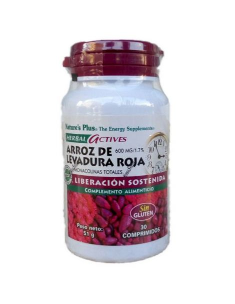 Arroz de Levadura Roja (Red Yeast Rice) Nature's Plus - 30 comprimidos