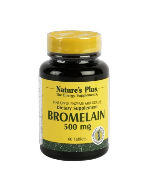 Bromelaína 500 mg. Nature's Plus - 60 comprimidos