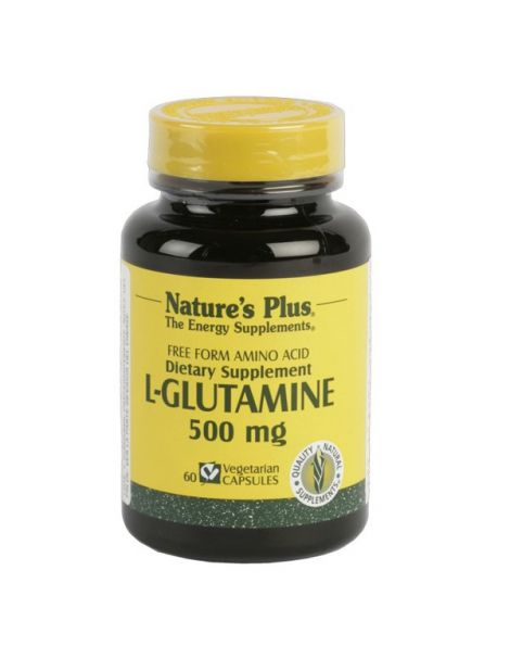 L-Glutamina 500 mg. Nature's Plus - 60 cápsulas