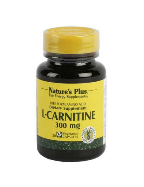 L-Carnitina 300 mg. Nature's Plus - 30 cápsulas