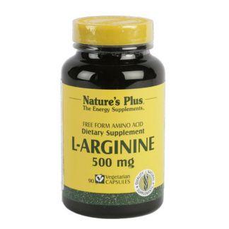 L-Arginina 500 mg. Nature's Plus - 90 cápsulas