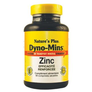 Dyno-Mins Zinc Nature's Plus - 60 comprimidos