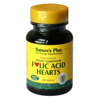 Folic Acid Hearts Nature's Plus - 90 comprimidos