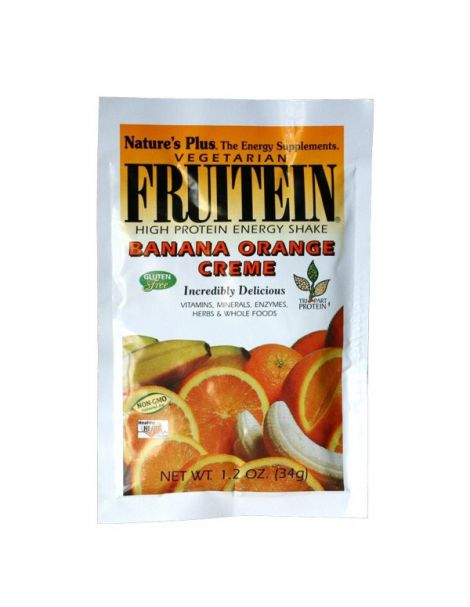 Fruitein Plátano & Naranja Nature's Plus - 34 gramos