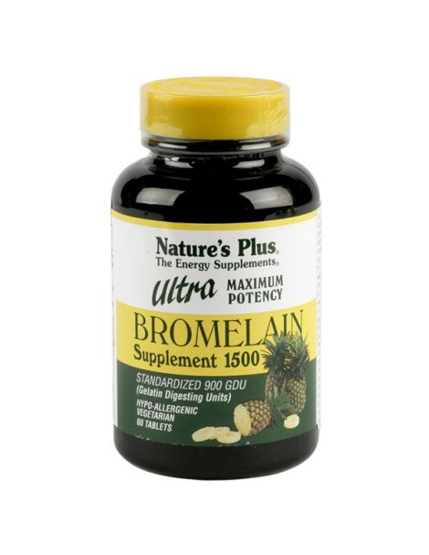 Ultra Bromelaína 1500 Nature's Plus - 60 comprimidos