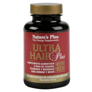Ultra Hair Plus con MSM Nature's Plus - 60 comprimidos