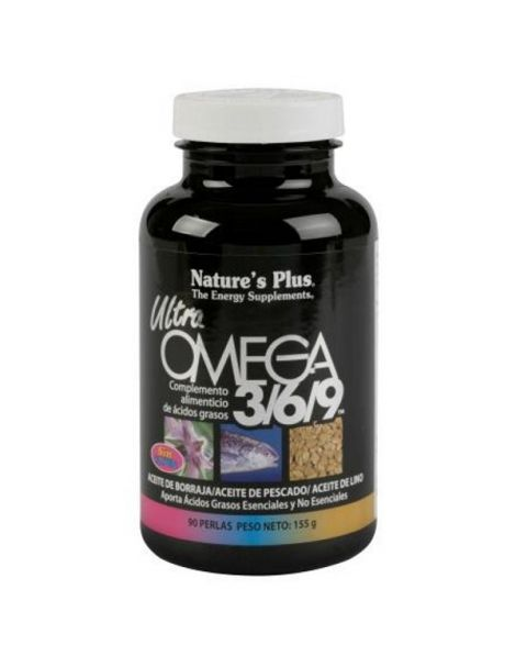 Ultra Omega 3/6/9  Nature's Plus - 90 perlas
