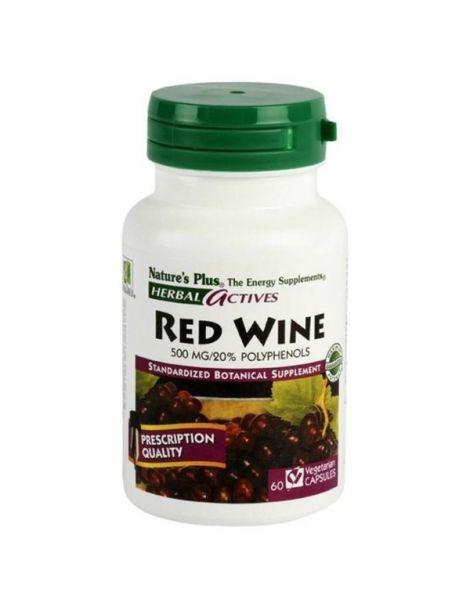 Vino Tinto (Red Wine) Nature's Plus - 60 cápsulas