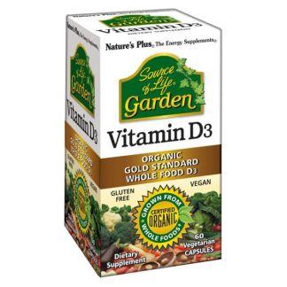 Vitamina D3 Garden Nature's Plus - 60 cápsulas