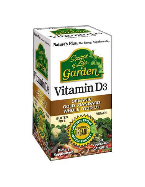 Vitamina D3 Garden Nature's Plus - 60 cápsulas