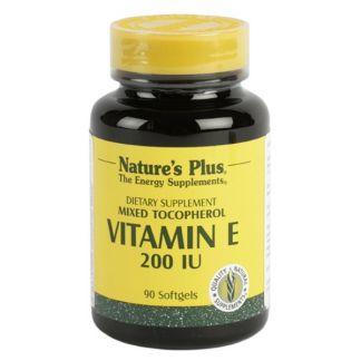 Vitamina E 200 UI Nature's Plus - 90 perlas