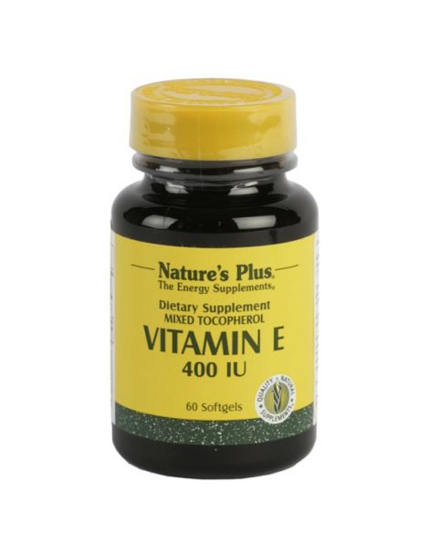 Vitamina E 400 UI Nature's Plus - 60 perlas