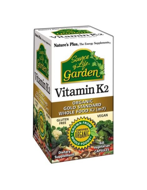 Vitamina K2 Garden Nature's Plus - 60 cápsulas