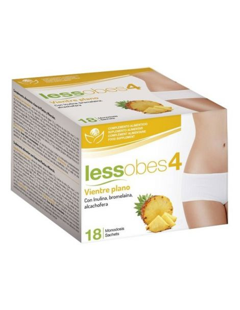 Lessobes 4 Vientre Plano Bioserum - 18 monodosis