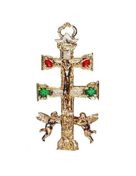 Cruz de Caravaca Dorada - 10 cm.