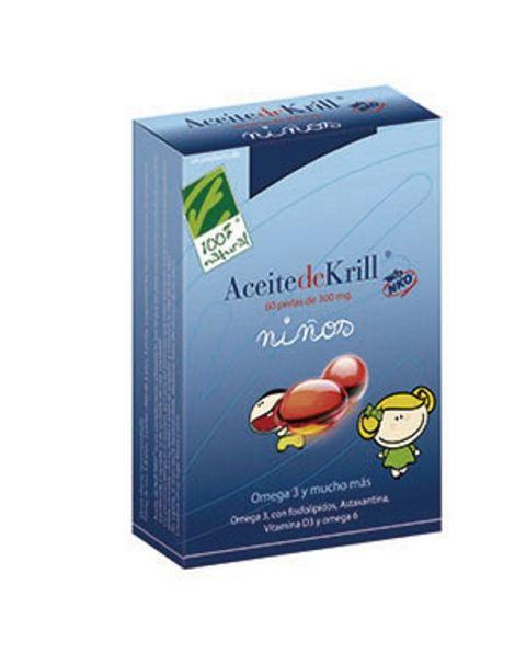 Aceite de Krill NKO Niños Cien por Cien Natural - 60 cápsulas