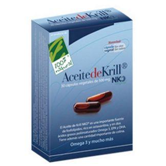 Aceite de Krill NKO Cien por Cien Natural - 30 cápsulas