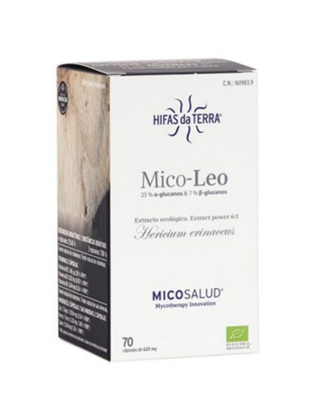 Mico-Leo (Melena de León HdT) Hifas da Terra - 70 cápsulas