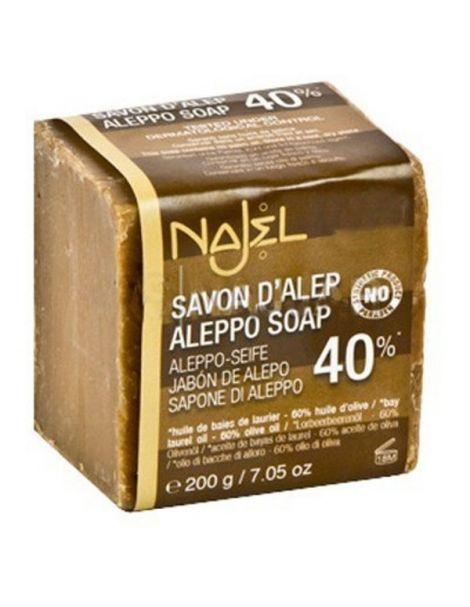 Jabón de Alepo 40% Najel - pastilla de 185 gramos