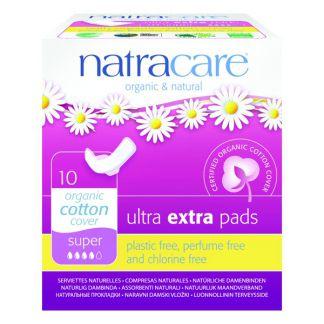 Compresa Ultra Extra Super con Alas Natracare - 10 unidades