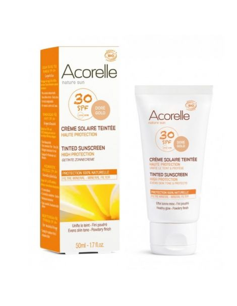 Crema Facial Color Doré SPF 30 Acorelle - 50 ml.