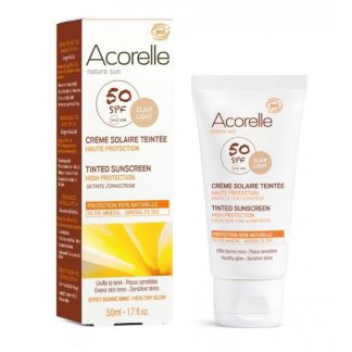 Crema Facial Color Clair SPF 50 Acorelle - 50 ml.