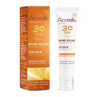 Bálsamo Solar Facial SPF 30 Acorelle - 30 ml.